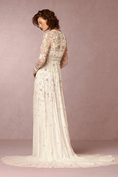 Needle & Thread Ivory Tabitha Gown  | BHLDN