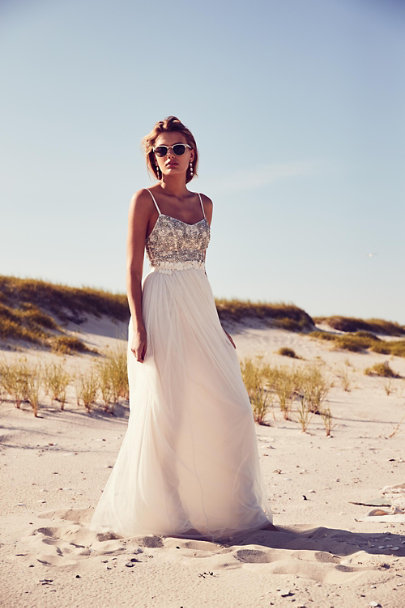 Needle & Thread Ivory Venus Maxi Dress | BHLDN