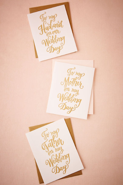 Husband Foil Script Wedding Day Card | BHLDN