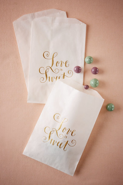 White Sweet Nothings Treat Bags (12) | BHLDN