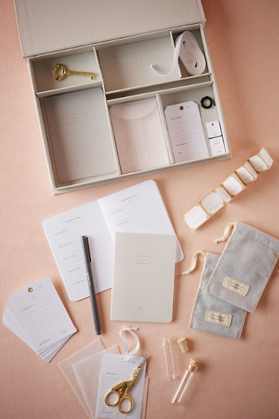 Grey Wedding Keepsake Box | BHLDN