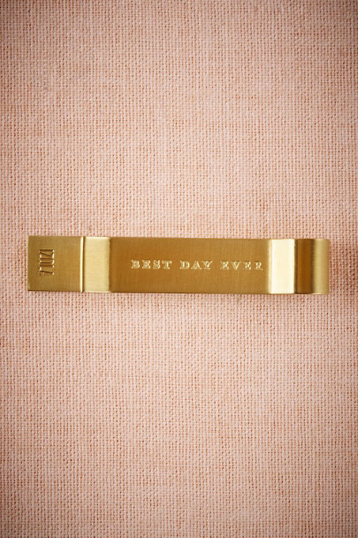 Bronze Best Day Ever Tie Clip  | BHLDN