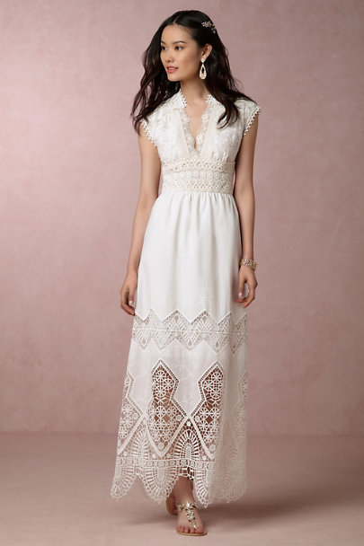 Anna Sui Ivory Rosie Dress | BHLDN