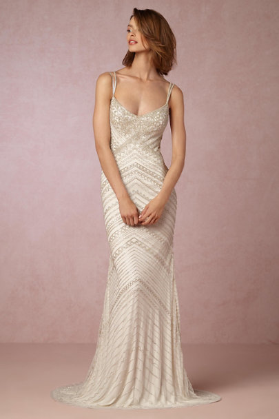 Theia Bridal Ivory Joslyn Gown | BHLDN