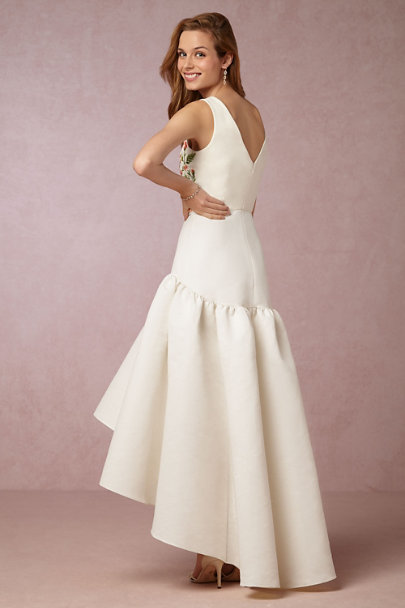 Marchesa Notte Ivory Motif Abella Dress | BHLDN