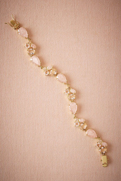 Jardin Gold Rose Quartz Bracelet | BHLDN