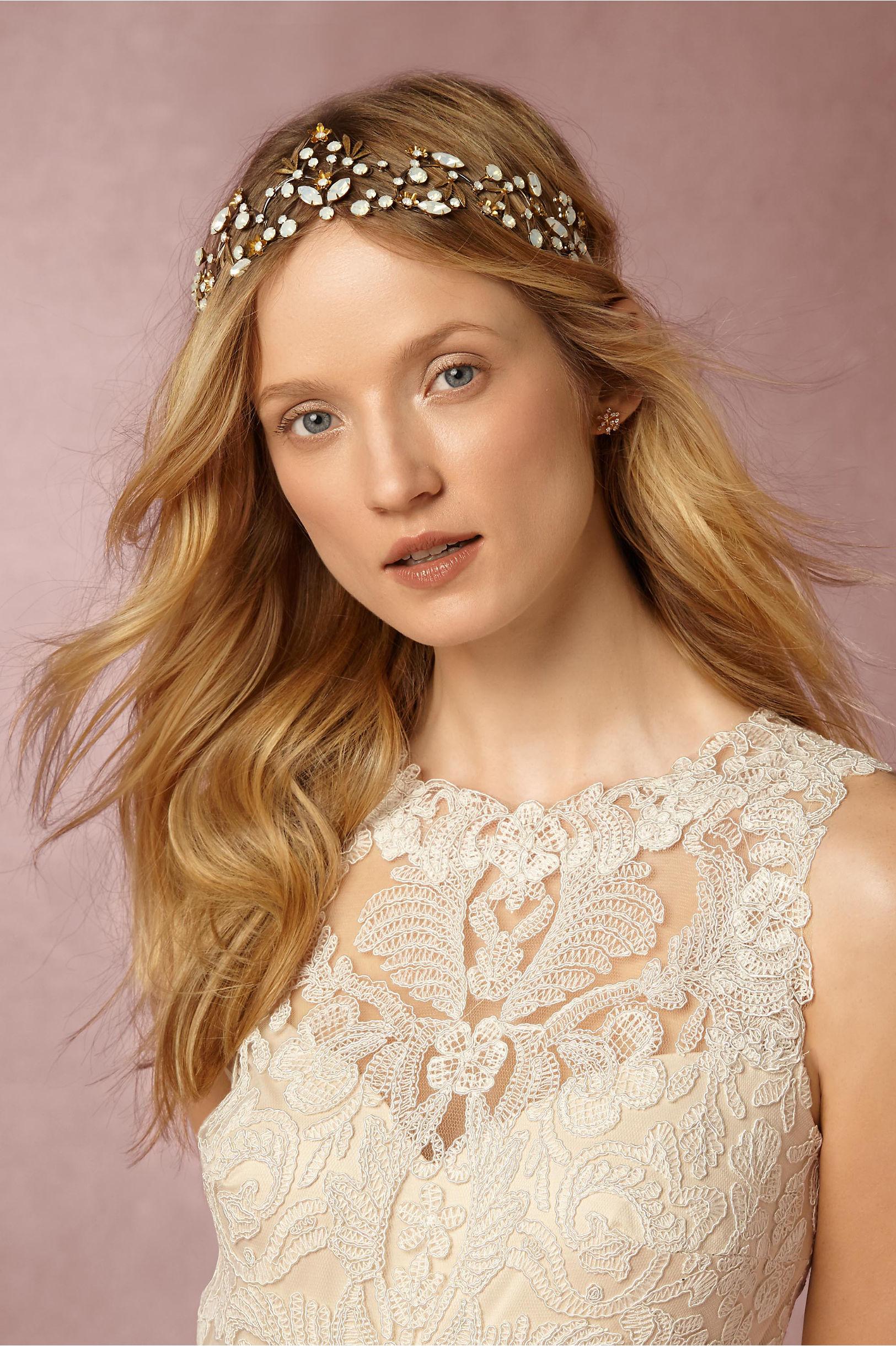 We wedding headpiece jewellery - Theia Jewelry Gold Minnie Burst Studs Bhldn