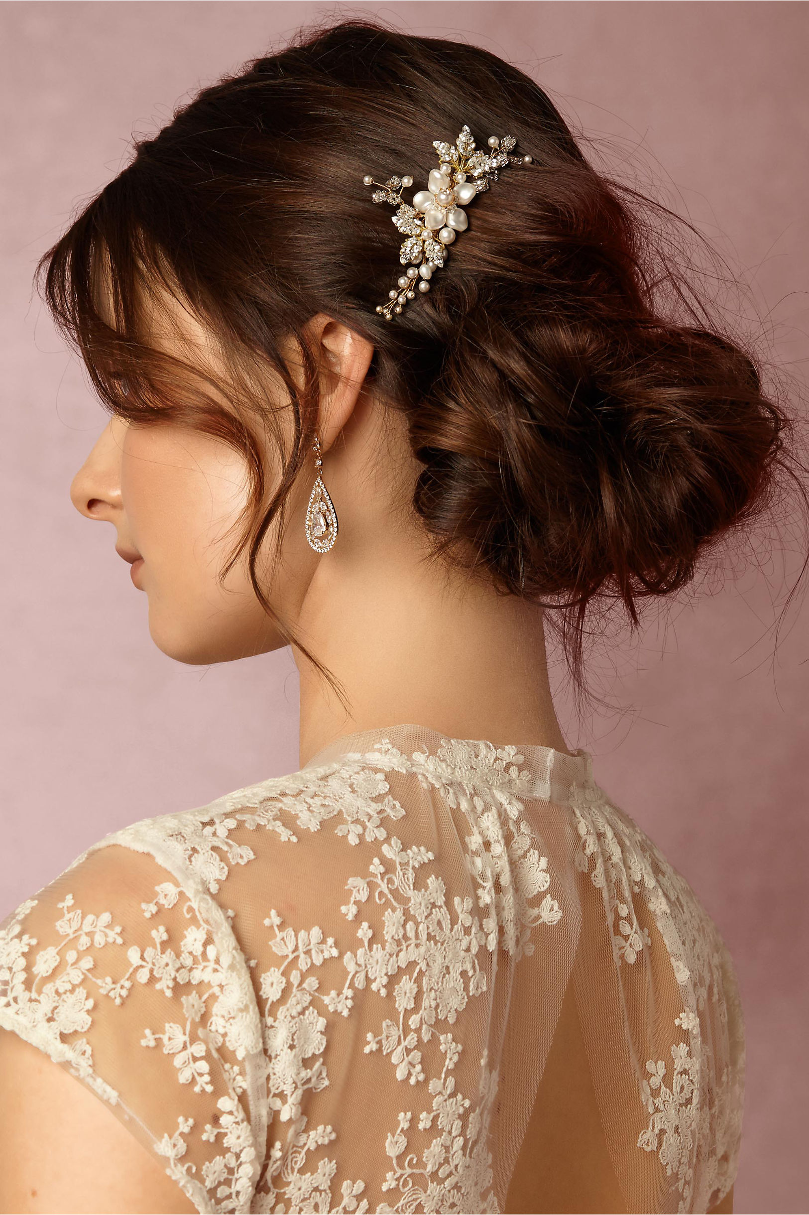 veils accessories headpieces wedding hair accessories Rosina Floral Comb