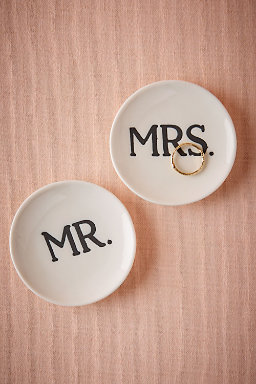 Mr & Mrs Ring Dishes (2)