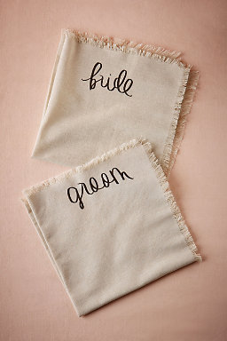 Bride & Groom Napkins (2)
