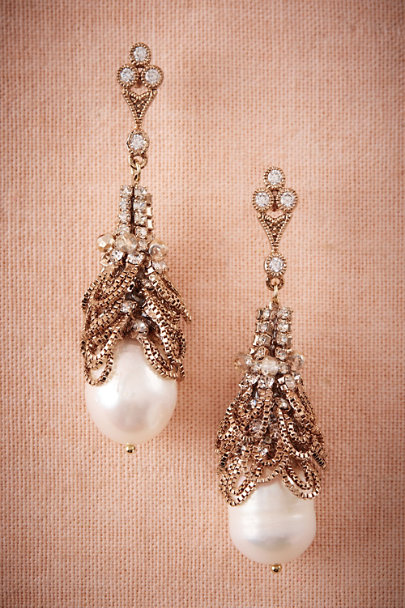 Theia Jewelry Gold Ura Crystal Chandeliers | BHLDN