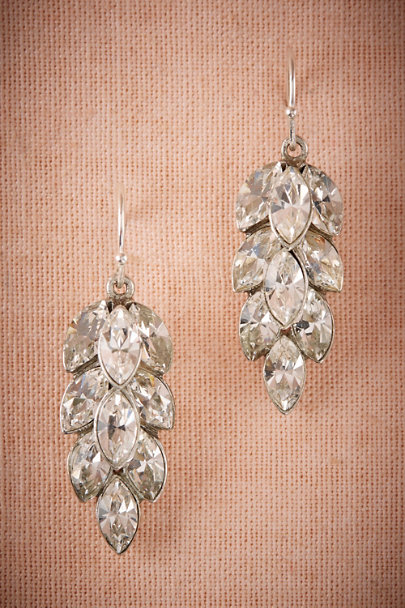 Ben-Amun Silver Crystal Leaf Drops | BHLDN