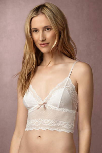 Eberjey White Elodie Lace Bra  | BHLDN