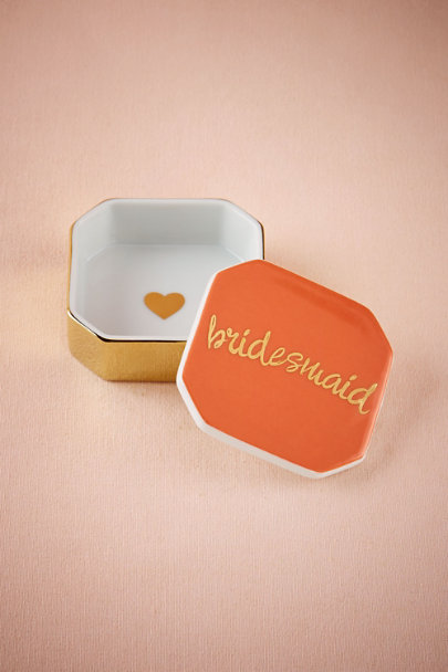 Gold Bridesmaid Trinket Box | BHLDN