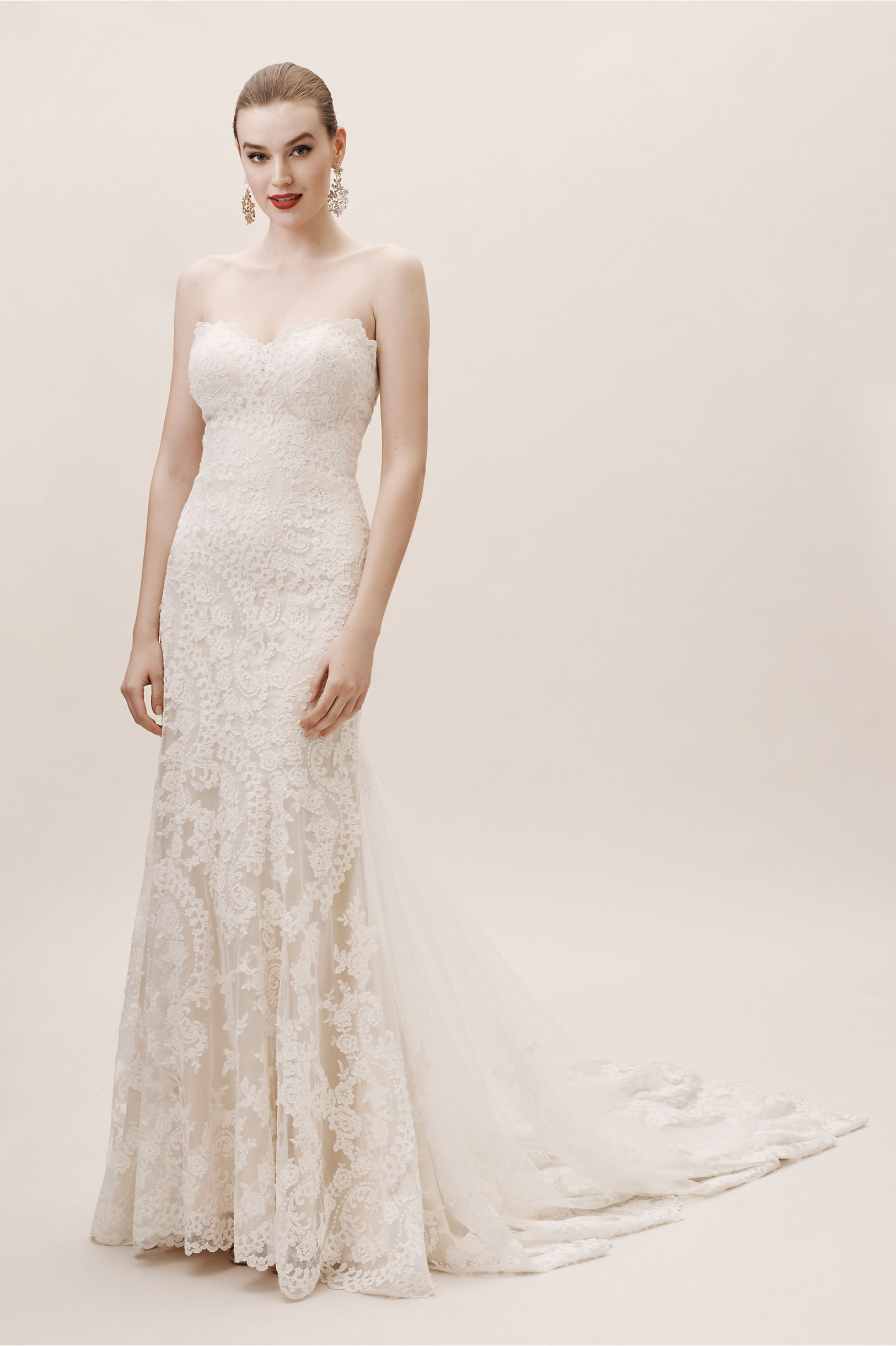 Lace Wedding Dresses | Vintage Lace Gowns | BHLDN