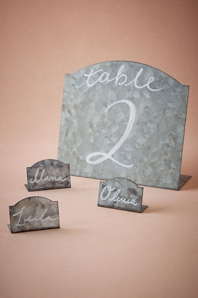 Silver Garden Party Place Cards (6) | BHLDN