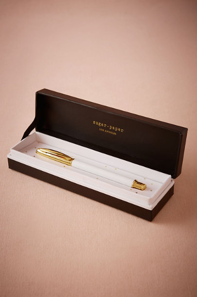 Sugar Paper White Emerson Pen | BHLDN