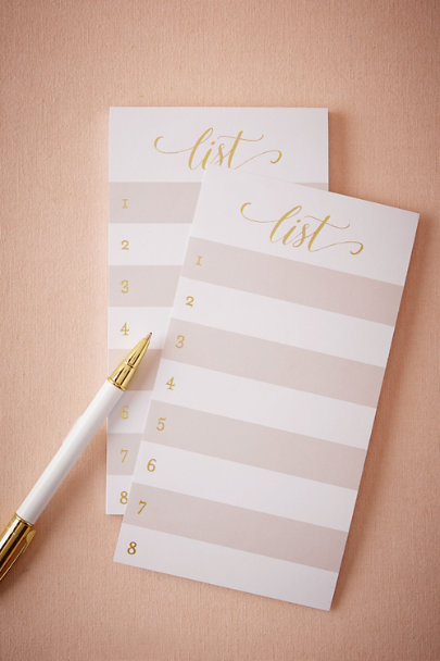 Sugar Paper Grey Le Gilt Notepad | BHLDN