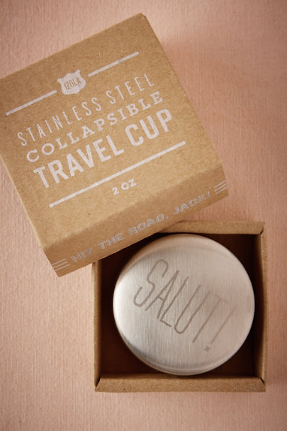 Silver Salut! Travel Shot Glass | BHLDN