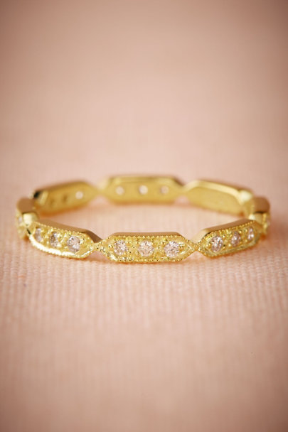 Yellow Gold Nehra Ring  | BHLDN