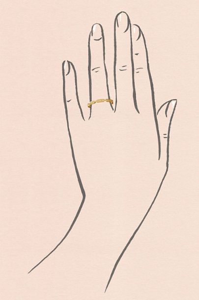 ILA Yellow Gold Nehra Ring  | BHLDN