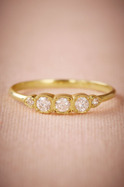 ILA Yellow Gold Vivie Ring  | BHLDN