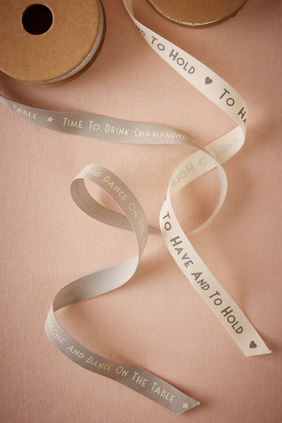 Drink Champagne Sentiments Ribbon | BHLDN