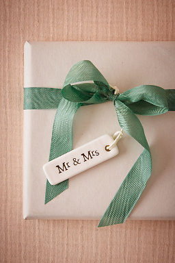 Mr & Mrs Porcelain Tag