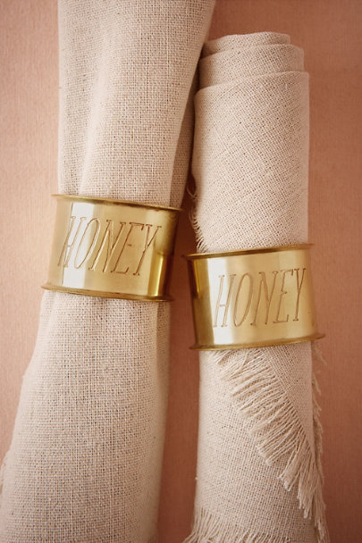 Honey Endearment Napkin Rings (2) | BHLDN