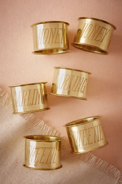 Sweetie Endearment Napkin Rings (2) | BHLDN