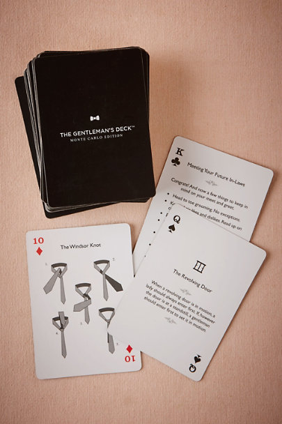 Black The Gentleman's Card Deck | BHLDN