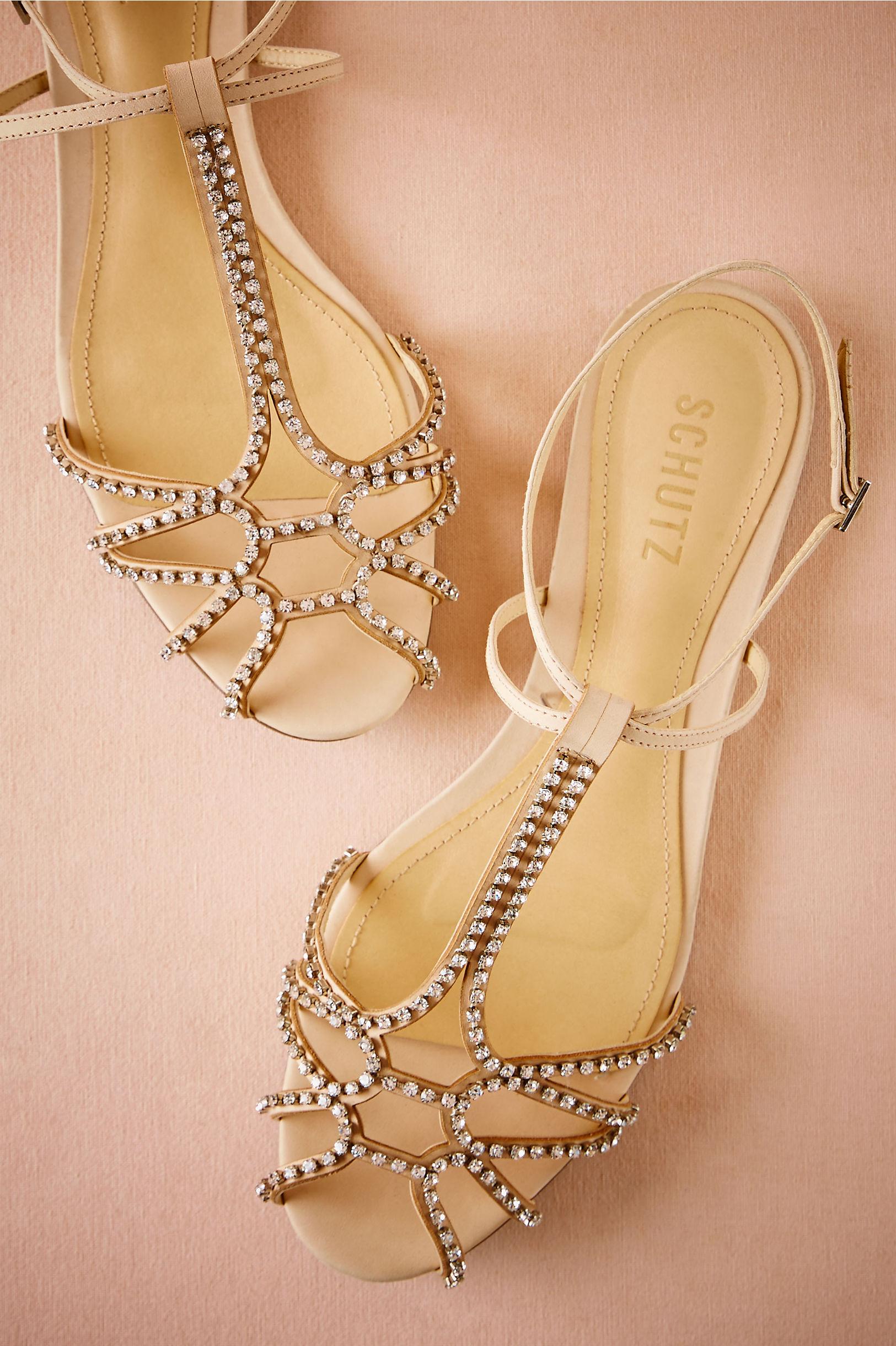 Sandals honeymoon shoes with rhinestone - Nude Dorothea Sandals Bhldn