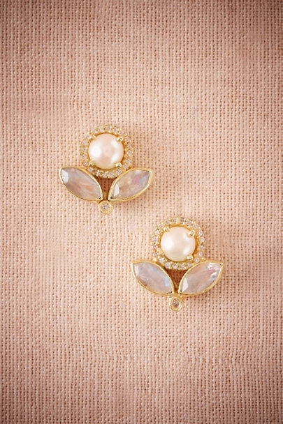 Atelier Mon Gold Bella Luna Post Earrings | BHLDN
