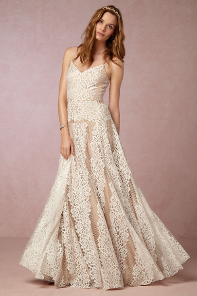 Tracy Reese Ivory/Latte Larkin Gown | BHLDN