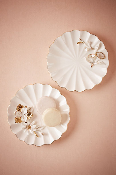 Morning Glory Rilievo Dessert Plate | BHLDN