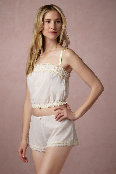 Only Hearts White Beatrix Sleep Shorts | BHLDN