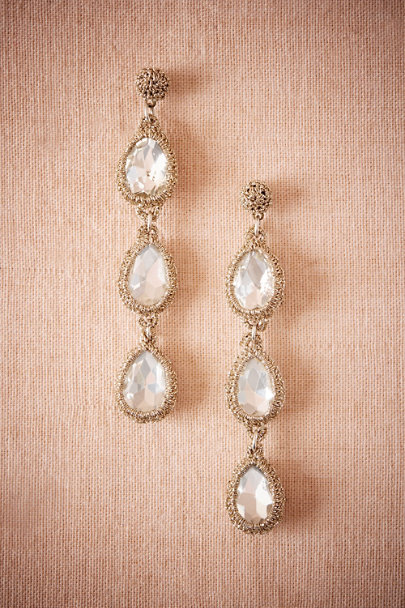 St. Erasmus Gold Magdalena Drop Earrings | BHLDN