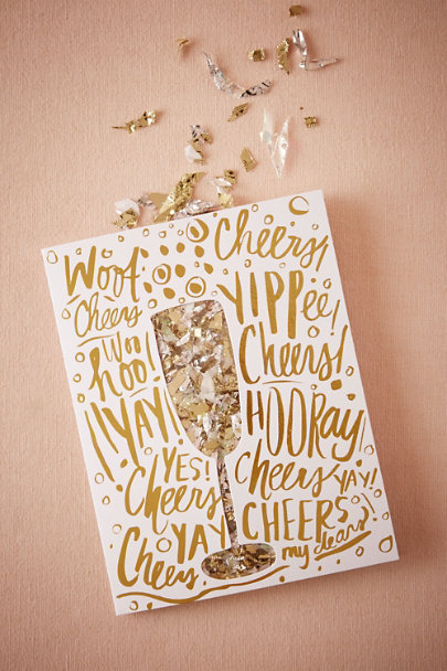 Gold Confetti Celebration Card | BHLDN