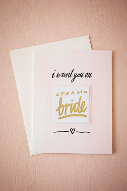 Team Bride Tattoo Card