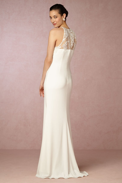 Badgley Mischka Ivory Julianne Gown | BHLDN