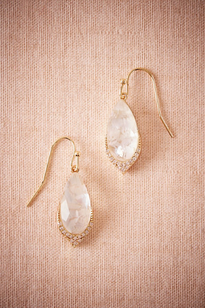 Marcia Moran Gold Moonscape Drop Earrings | BHLDN