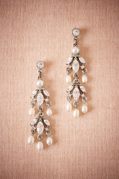 Ben-Amun Silver Operetta Chandelier Earrings | BHLDN