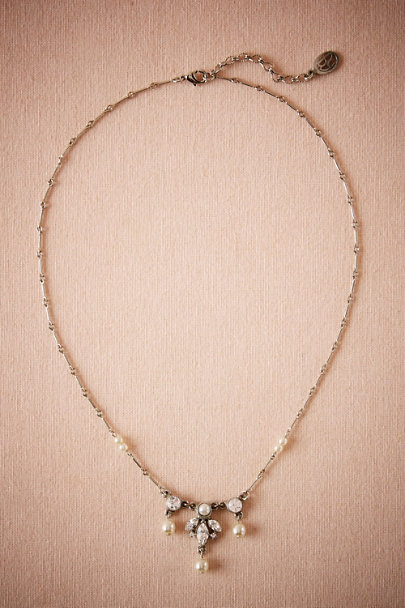 Ben-Amun Silver Edwardian Drop Necklace | BHLDN