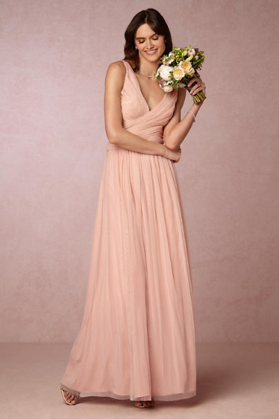 Hitherto Taupe Pink Edith Dress | BHLDN