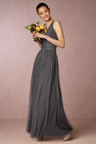 Hitherto Pewter Edith Dress | BHLDN
