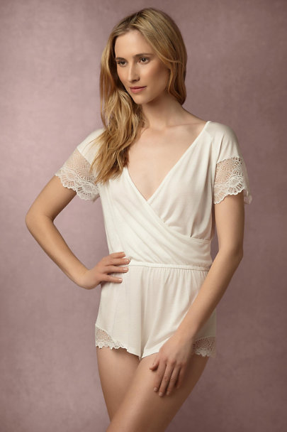 Only Hearts Ivory Ravenna Romper | BHLDN