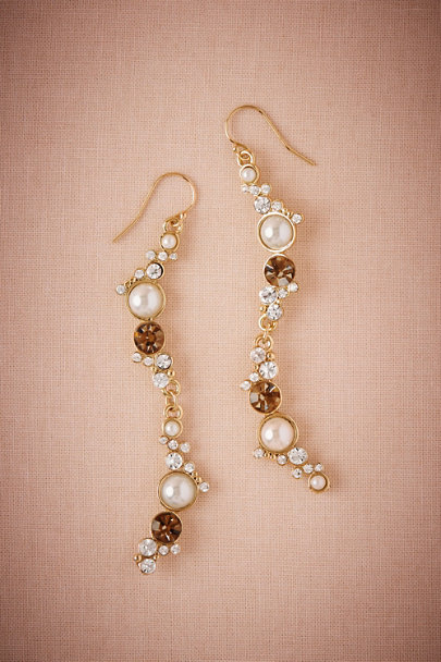Lulu Frost Gold Infinity Drop Earrings | BHLDN