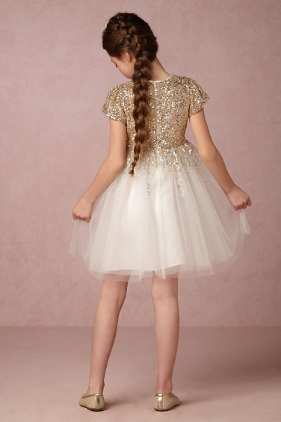 Wild & Gorgeous Ivory/Gold Degas Moon Dress | BHLDN