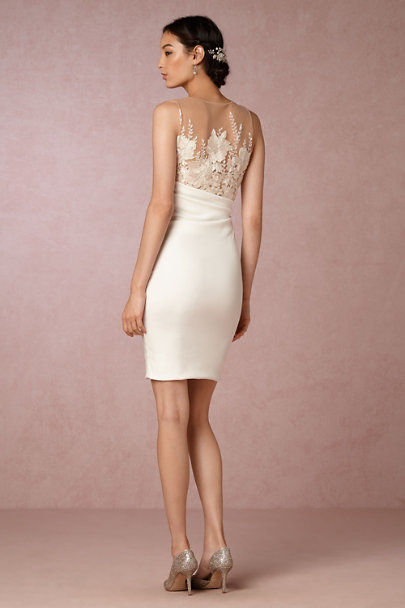 Marchesa Notte Ivory Beverly Dress | BHLDN