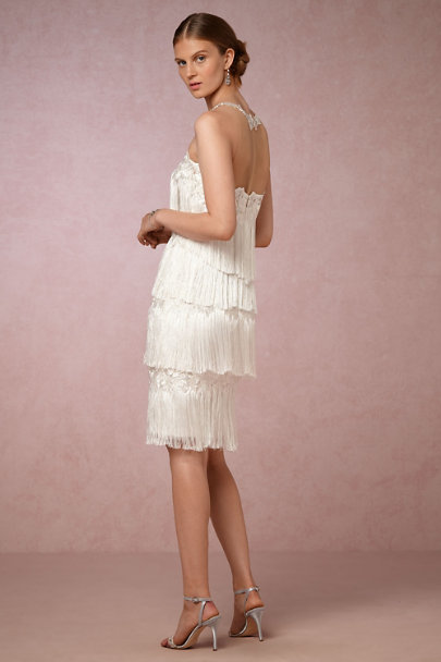 Marchesa Notte Soft White Saxa Dress | BHLDN